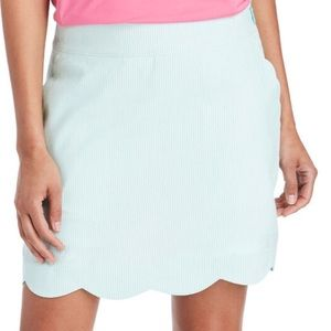 {Vineyard Vines} light blue seersucker skirt